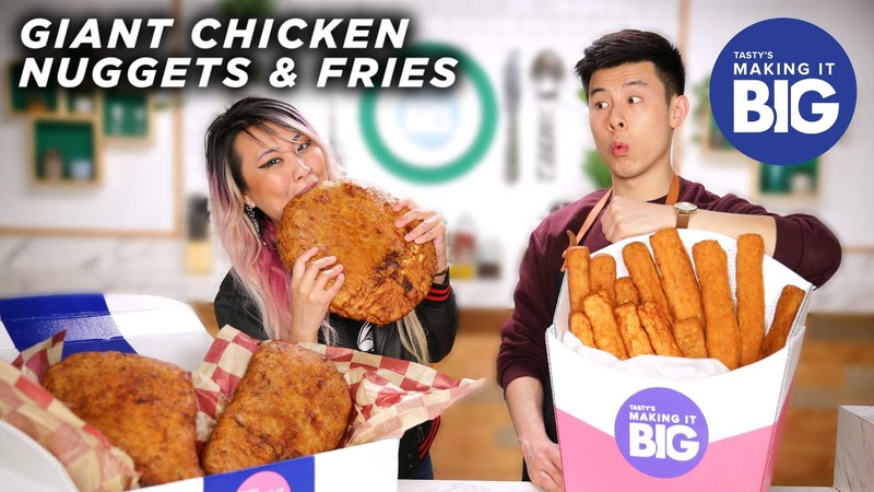 I Made Giant Chicken Nuggets And Fries For A Competitive Eater • Tasty