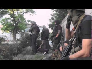 Actions from the hot spot!  THE BEST VIEW FROM Azov SEATS! Azov battalion in Mariupol