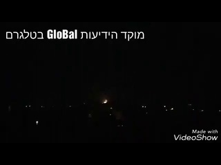 Video of an airstrike very likely Israeli hitting its target south of Damascus tonight   Syria Damas