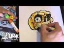 Skull - drawing skull - speed color