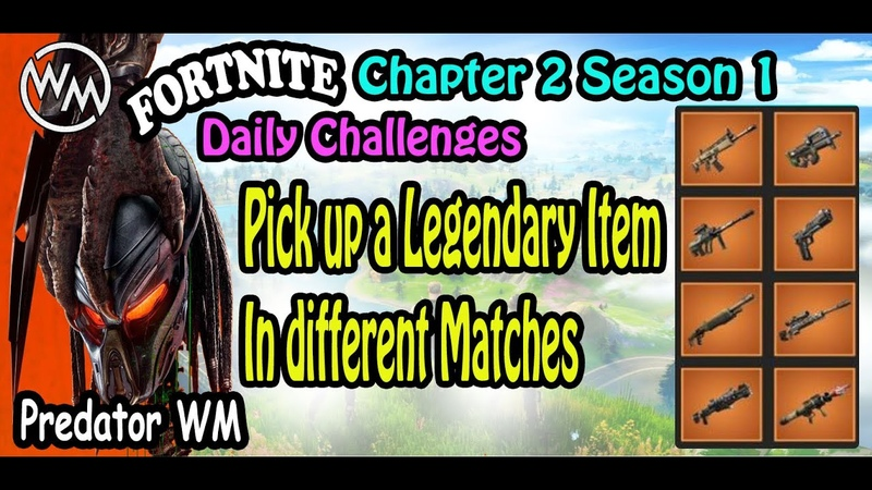 Pick up a Legendary Item in different matches 2