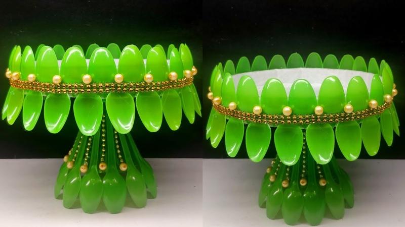 Ide kreatif - Kreasi sendok plastik || Plastic Spoon Craft ideas || Best Out Of Waste