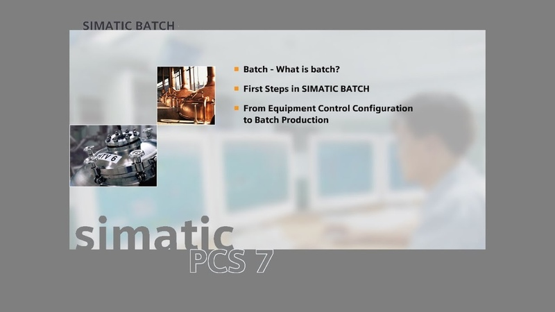 12 - SIMATIC BATCH - Overview of The project