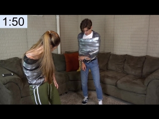 THE DUCT TAPE ESCAPE CHALLENGE!!!