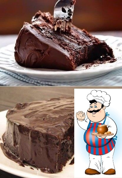 Супер влажный шоколадный пирог без яиц Ингредиенты: Мука пшеничная 1,5 ст. Какао-порошок 4 ст. л. Сода пищевая 1 ч. л. Лимонный сок 1 ст. л. Сахар-песок 200 г Масло растительное 1/4 ст.