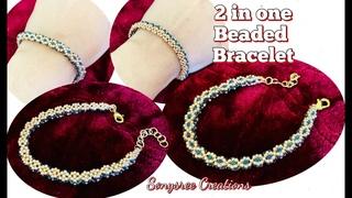 2 in one Beaded rope Bracelet || DIY Beaded Bracelet || Seed Beads Bracelet