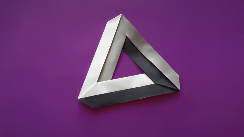 Оригами невозможный треугольник 🔺 Оптическая иллюзия бумаги без клея 🔺 Origami Optical Illusion