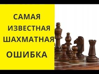 Шахматы. Самая известная шахматная ошибка. Ловим ферзя. Шахматы онлайн. Бесплатные. Играющие