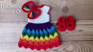 Amigurumi Zikzak Elbise Yapımı How to crochet dress
