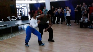 Terry Salsalianza & Cecile. Salsa cubana workshop. Hot Winter in Siberia