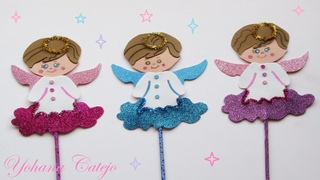 Como hacer un ángelito con foami