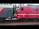 Прицепка локомотива ВЛ10-1885 к поезду 174\173 Москва - Евпатория.Станция Джанкой.КЖД.Крым