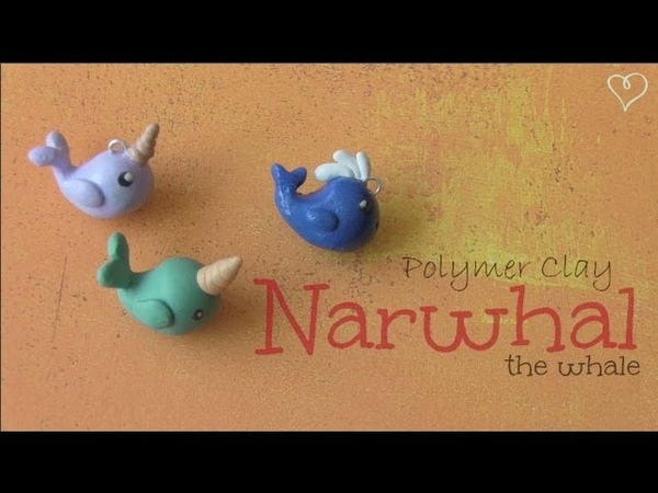 NARWHAL WHALE Polymer Clay Charm How To SoCraftastic