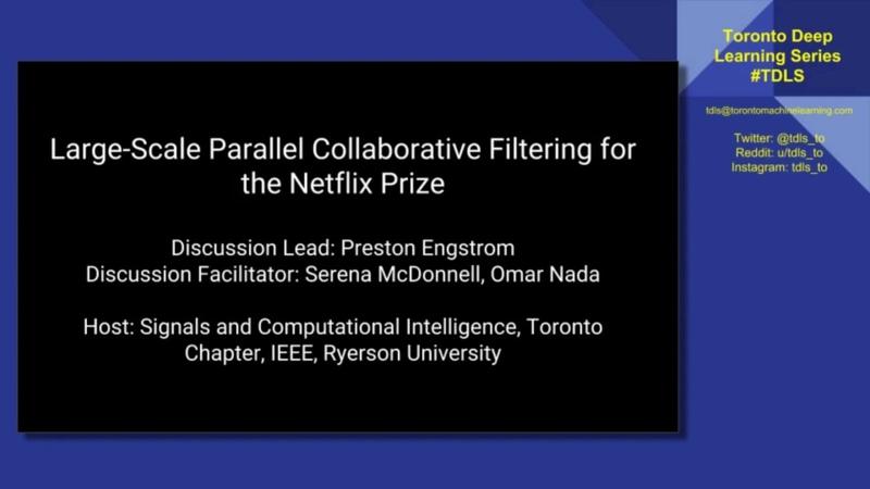 TDLS Classics Collaborative Filtering for the Netflix Prize part 1 algorithm review