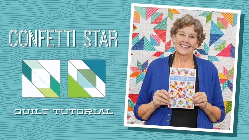 Make a Confetti Star Quilt with Jenny Doan of Missouri Star Video Tutorial