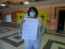 Жители района спешат на участок, чтоб проголосовать