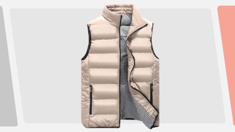 Brand Clothing Vest Jacket Mens New Autumn Warm Sleeveless Jacket Male 9142020 1339