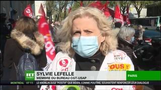 Rassemblement devant l'AP-HP : «Le gouvernement continue la casse du service public»