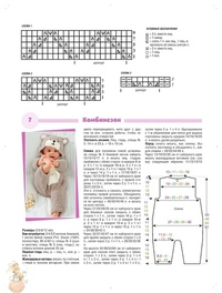 Вязаные комбинезоны для новорожденных - описание
