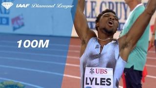 Noah Lyles overtakes Justin Gatlin to win the 100m sprint in  Zurich - IAAF Diamond League 2019