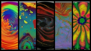 Rainbow Pours 5 Ways - Five Different Fluid Acrylic Pouring Techniques in 15 Minutes