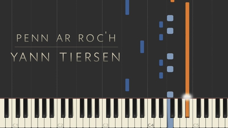 Penn ar Roc'h Yann Tiersen Synthesia Piano Tutorial