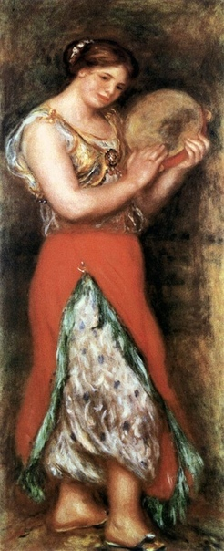 «Танцовщица с кастаньетами», «Танцовщица с тамбурином», Пьер Огюст Ренуар