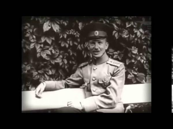 Отрывки из кинохроники создателя мертвой петли Петра Нестерова