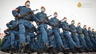 Тренировки парадного расчета Академия гражданской защиты МЧС России