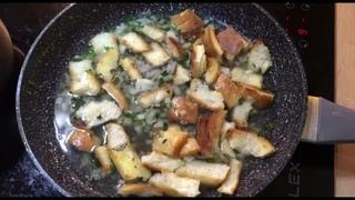 Хлебный суп по-крестьянски. Простой рецепт за 5 минут.