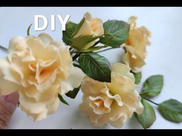 Трояндочки із фоамірану 🌸 Розочки из фоамирана 🌸🌸🌸 DIY Rose Flower Foam Paper Flores foamy