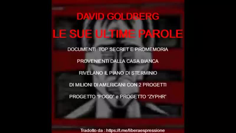 20190831 David Goldberg's FINAL WORDS