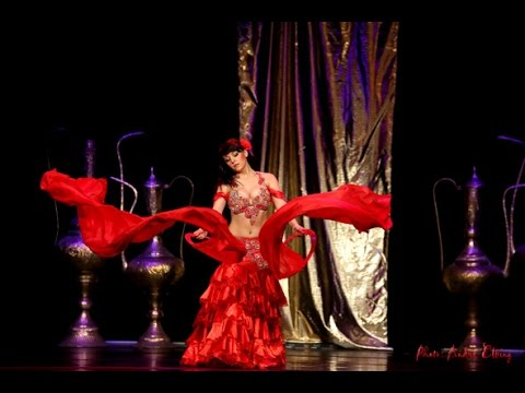 VARDA BELLYDANCE belly flamenco fusion with ring veils Orient Collaboration Show Warsaw
