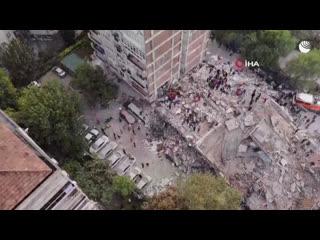 Разбор завалов после землетрясения в Турции