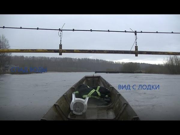 Вид паводка с лодки Судоверфь Коми край Ukhta