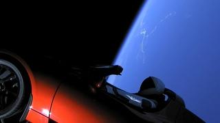 Запуск в космос электромобиля Tesla Roadster на ракете Falcon Heavy