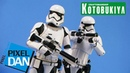 Star Wars First Order Stormtroopers Kotobukiya 1/10 Scale ArtFX Statues Video Review