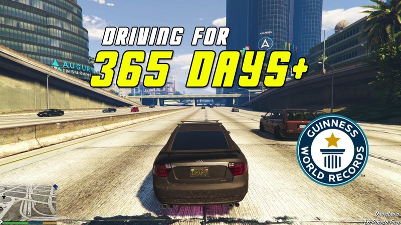 Driving Around the Map in GTA 5 Until the Release of GTA 6 (World Record)