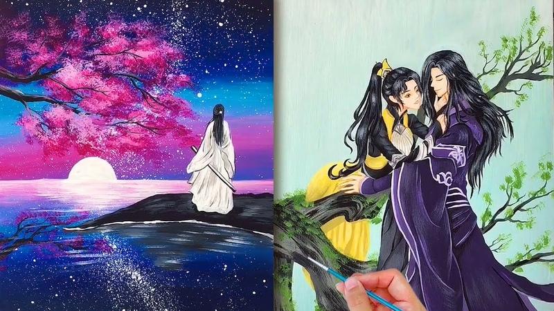 Tranh vẽ cổ trang siêu đẹp💘Nghệ thuật vẽ tranh đỉnh cao của họa sĩ Trung Quốc45💘Amazing Art Drawing