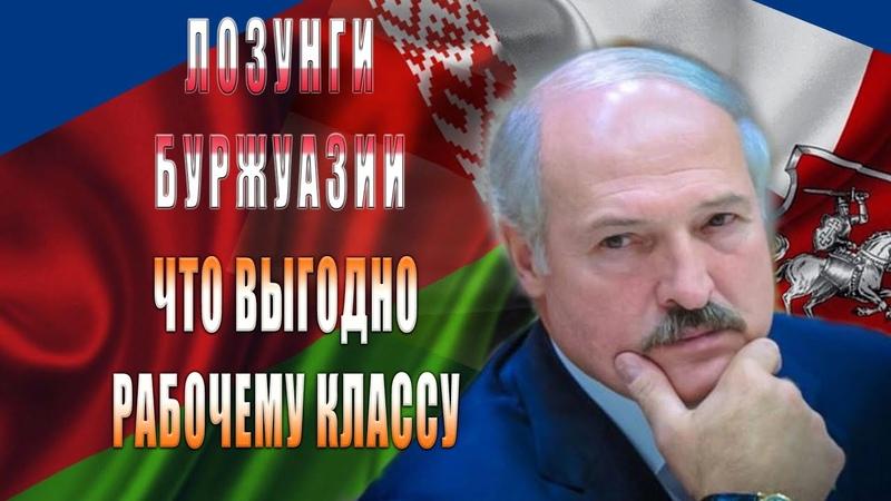 Белоруссия Лозунги буржуазии и что выгодно рабочему классу А Чурилов А Анохин