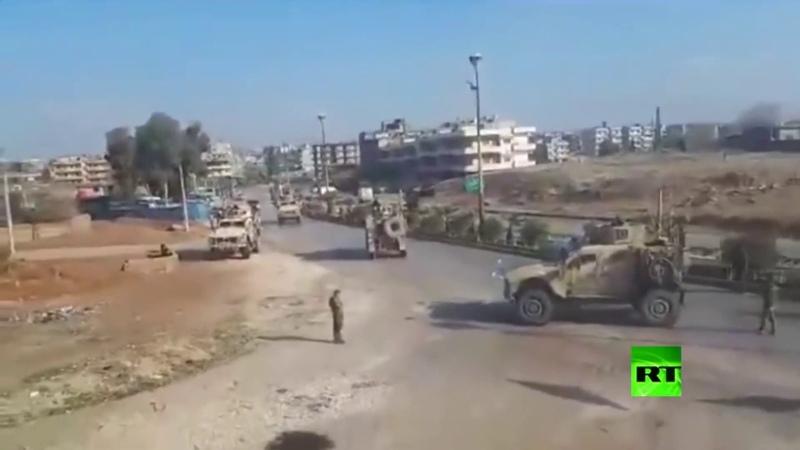 Pattuglia USA fermata dal Posto di Controllo siriano nei pressi della città di Qamyshli