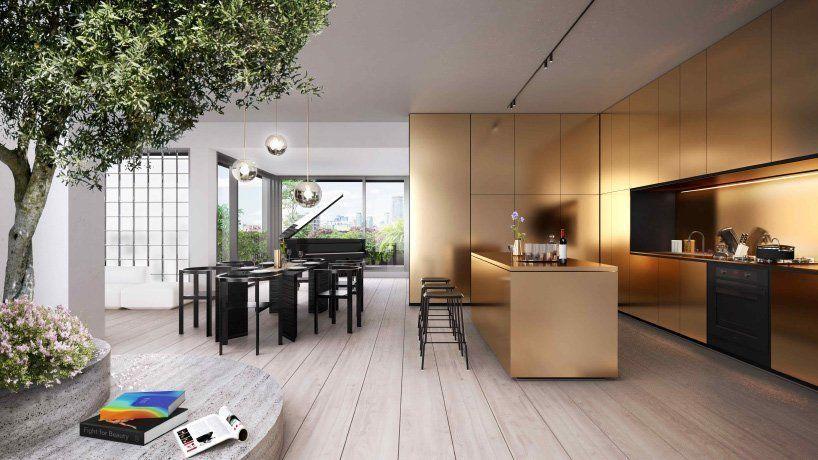 bjarke ingels group designs eight penthouses for KING toronto development