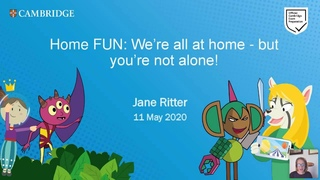 Home FUN: We're all at home - but you're not alone! with Jane Ritter