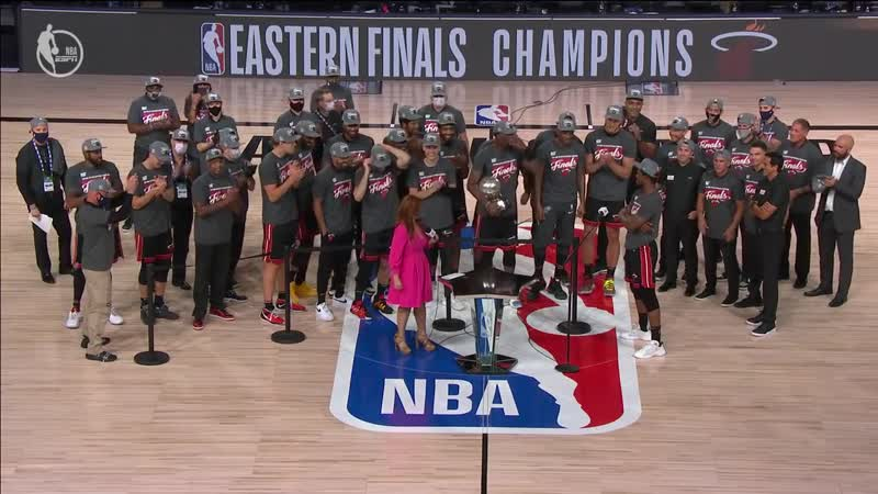 Miami Heat Trophy Presentation Ceremony 2020 NBA Eastern Conference Champions
