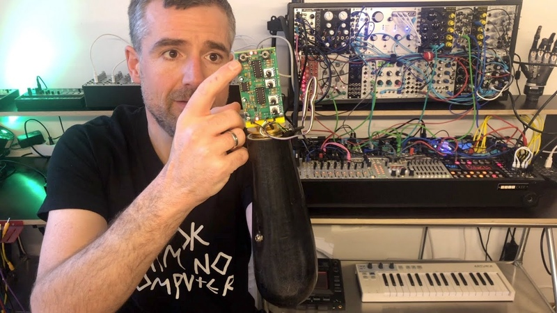 Hacking my arm prosthesis to output CV so that it plugs into my synth Thought controlled music