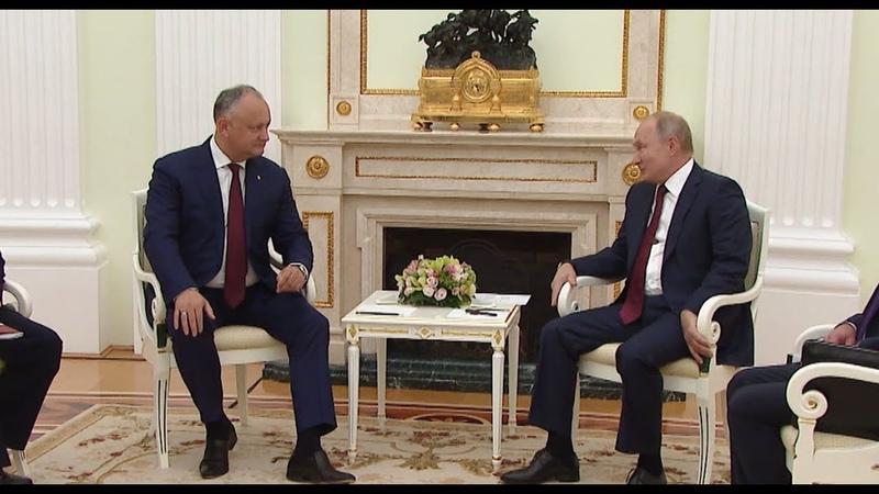 Путин: Стабилизация ситуации в Молдове позволит укрепить ее сотрудничество с Россией