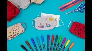 Faire un sur-masque en tissu pour enfant et sans machine  coudre - Mt'Cra x Maped