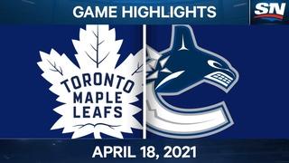 NHL Game Highlights | Maple Leafs vs. Canucks - Apr. 18, 2021