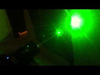 Мощный зелёный лазер SD_laser 304 10000mw green часть_1