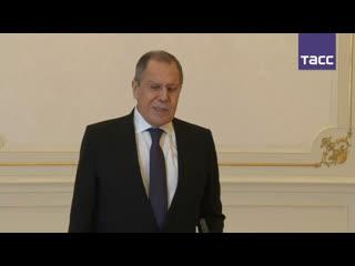 Пресс-подход Сергея Лаврова по итогам встречи в Баку